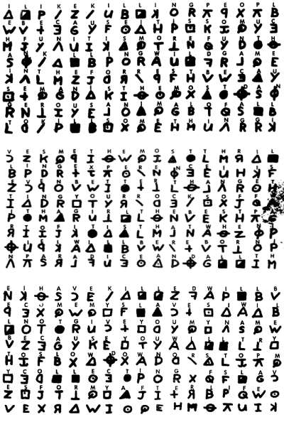 Elonkas List of Famous Unsolved Codes and Ciphers