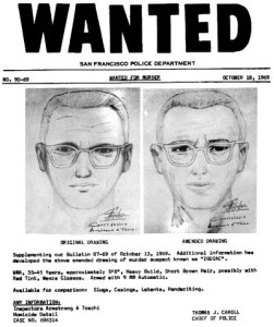 Wanted Poster of the Zodiac Killer