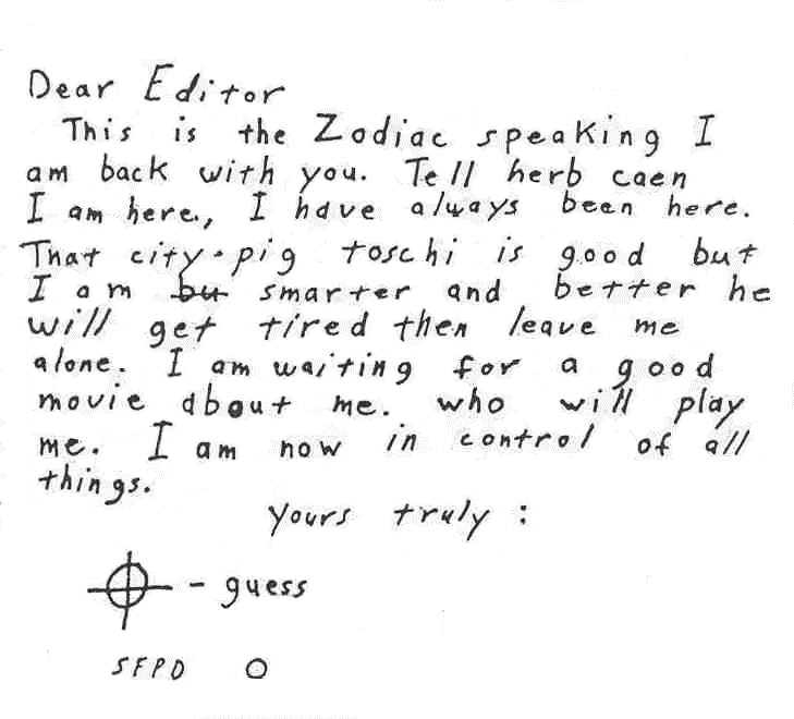 Who Was the Zodiac Killer? - The Zodiac Revisited