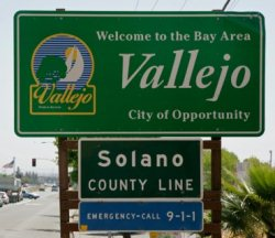 Vallejo California Sign