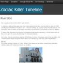 Zodiac Killer Riverside Timeline