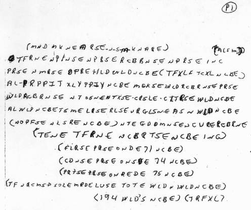 Page 1 of the Ricky McCormick cipher